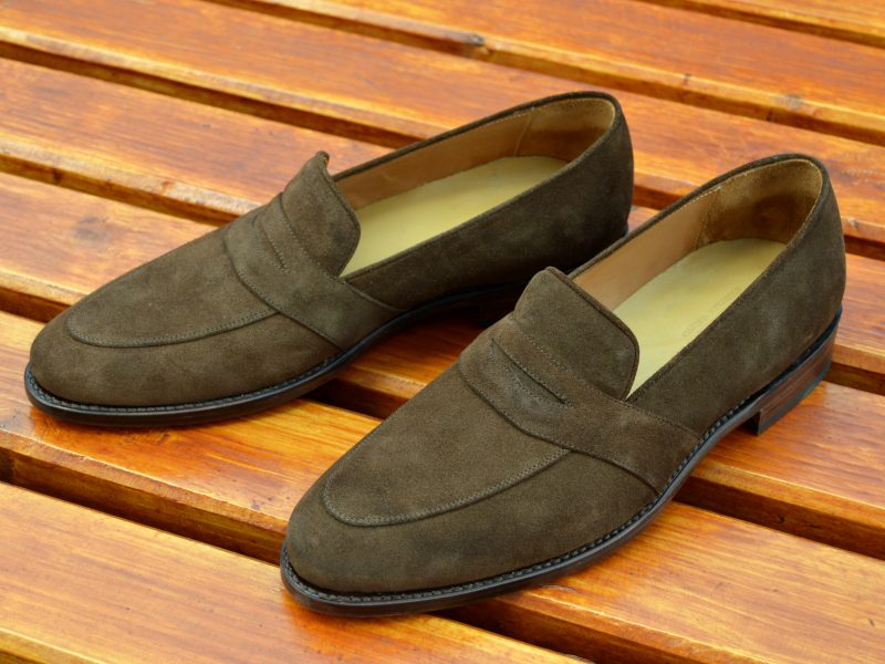 Vlad Alexandru brown suede Penny Loafer