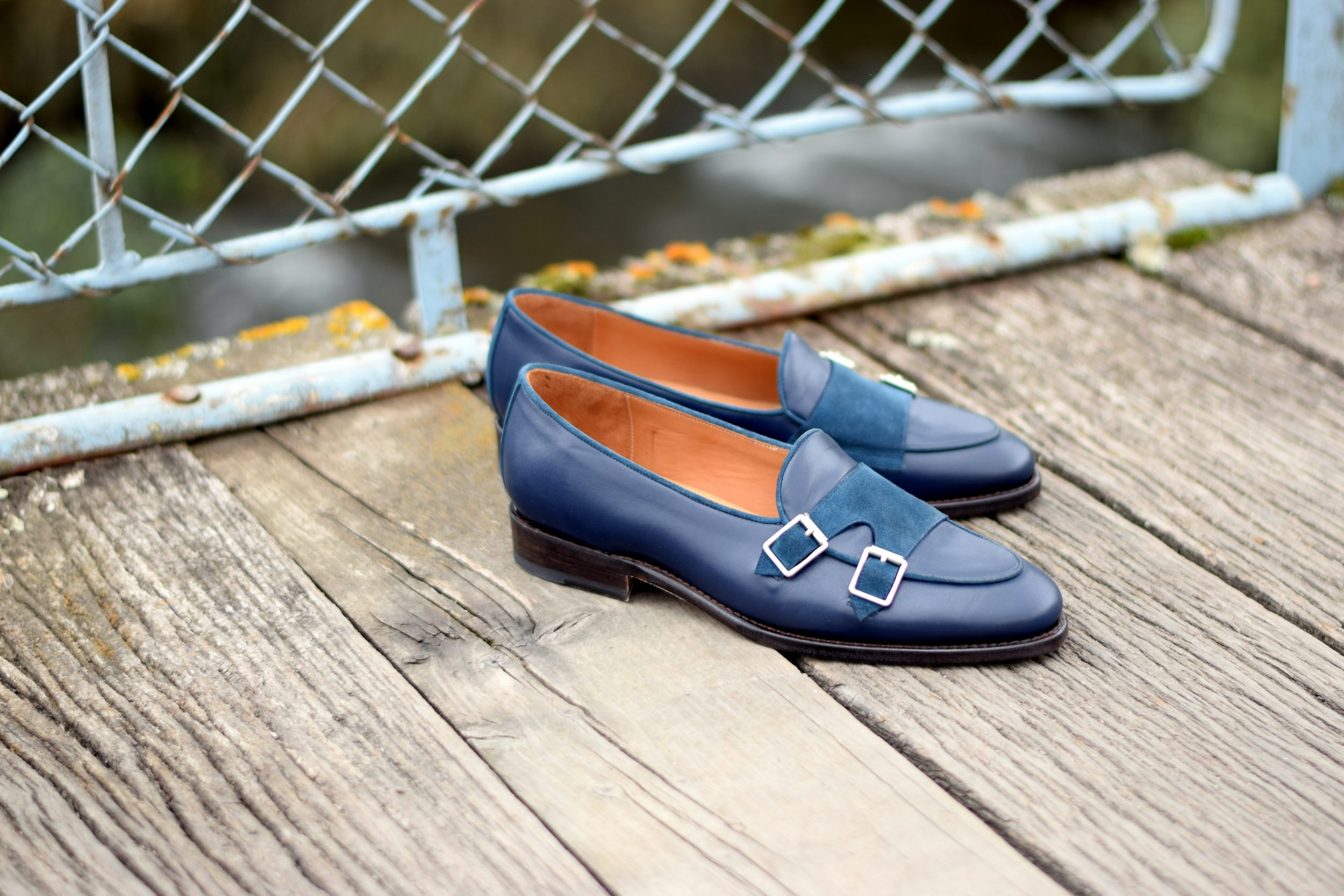 Vlad Alexandru cobalt Double Monk Loafer