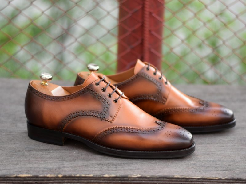 Vlad Alexandru Light Brown Patina Wingtip Derby
