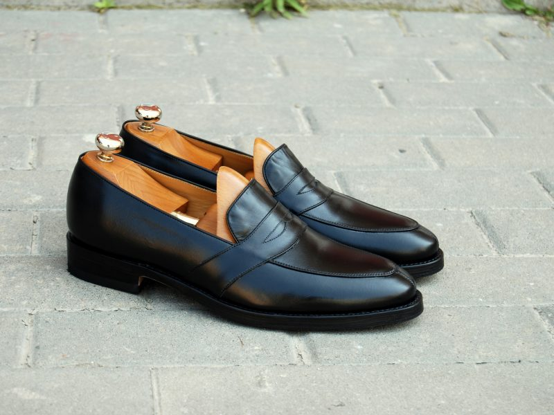 Vlad Alexandru black calf Penny Loafer