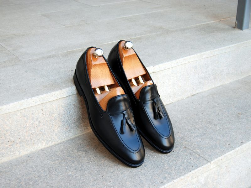 Vlad Alexandru black calf Tassel Loafer