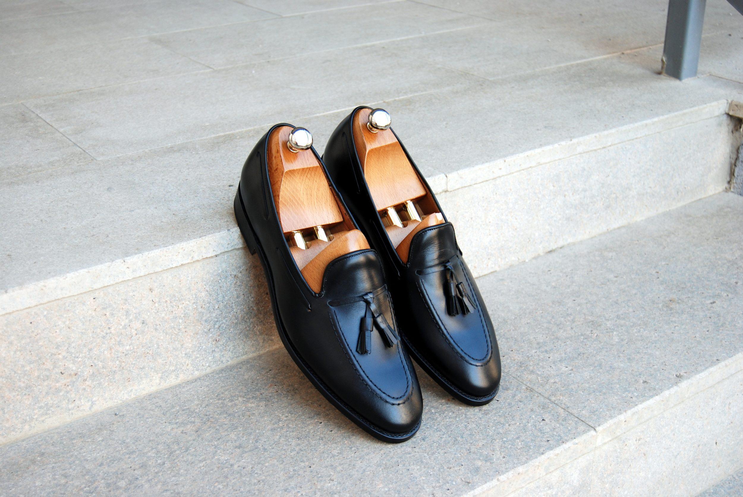 Vlad Alexandru black calf Tassel Loafer