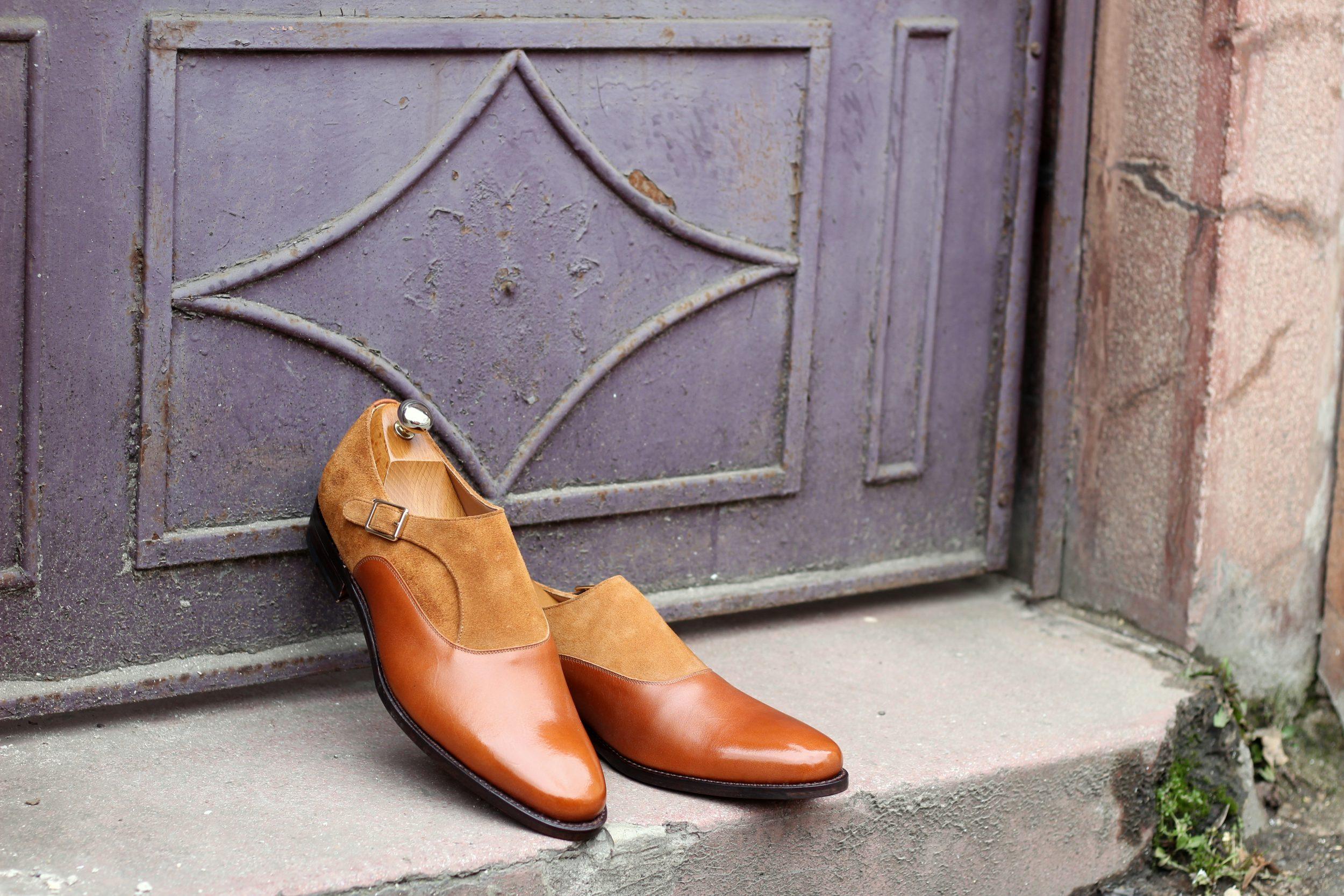 Vlad Alexandru cognac Single Monk Strap