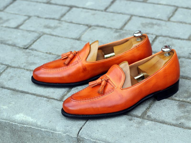 Vlad Alexandru Orange Patina Tassel Loafer