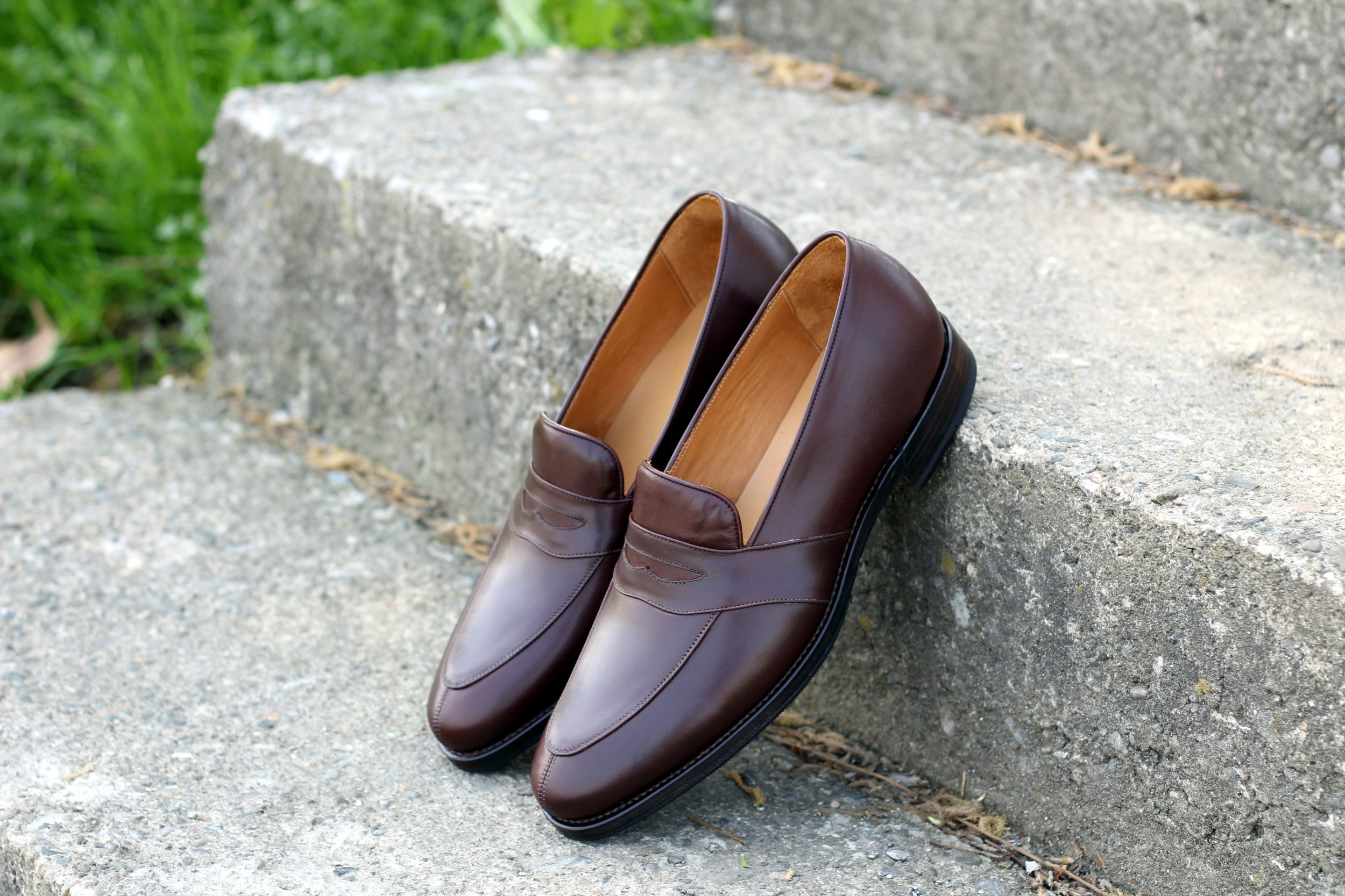 Vlad Alexandru mid brown Penny Loafer