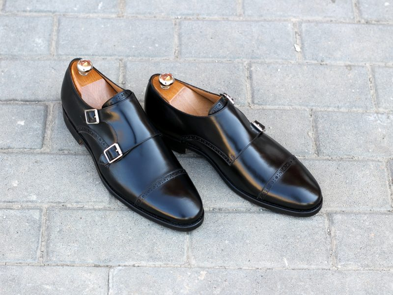 Vlad Alexandru black Double Monk Strap Brogue