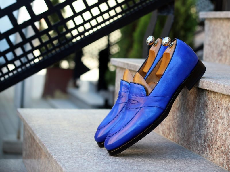 Vlad Alexandru patina blue Penny Loafer