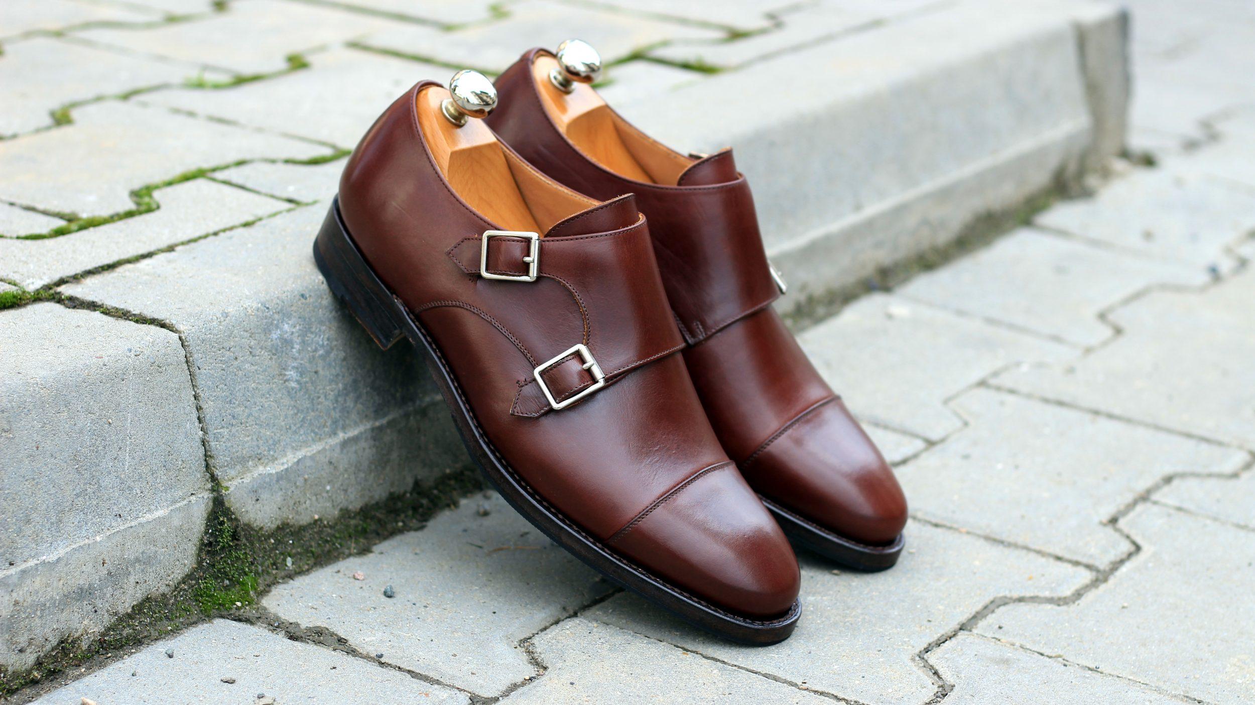 Vlad Alexandru brown calf Double Monk Strap