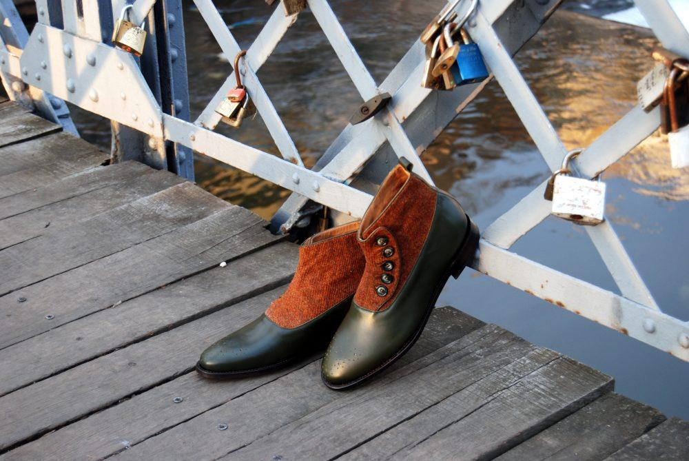 Vlad Alexandru green Button Boots