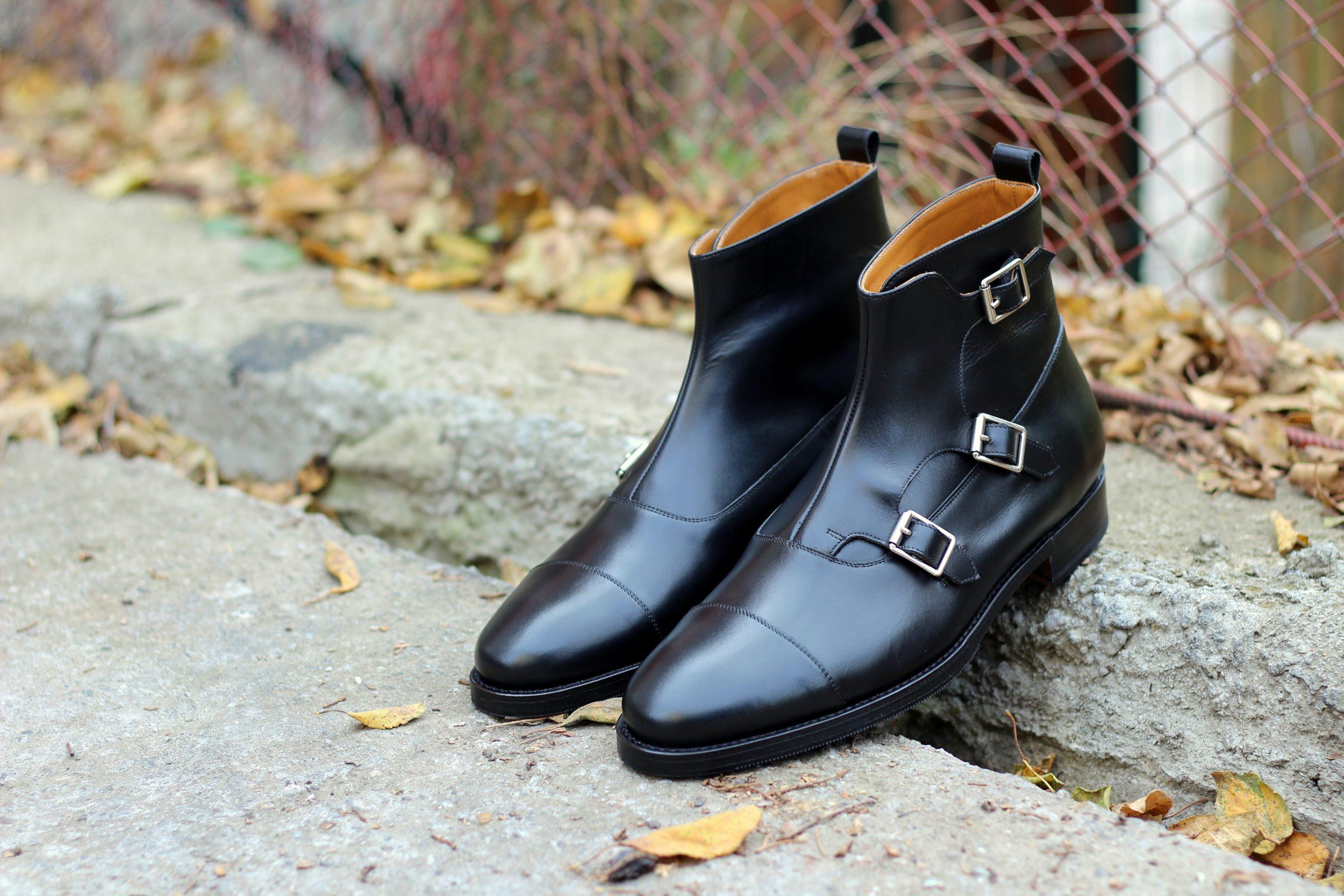 Vlad Alexandru black Triple Monk Strap Boots