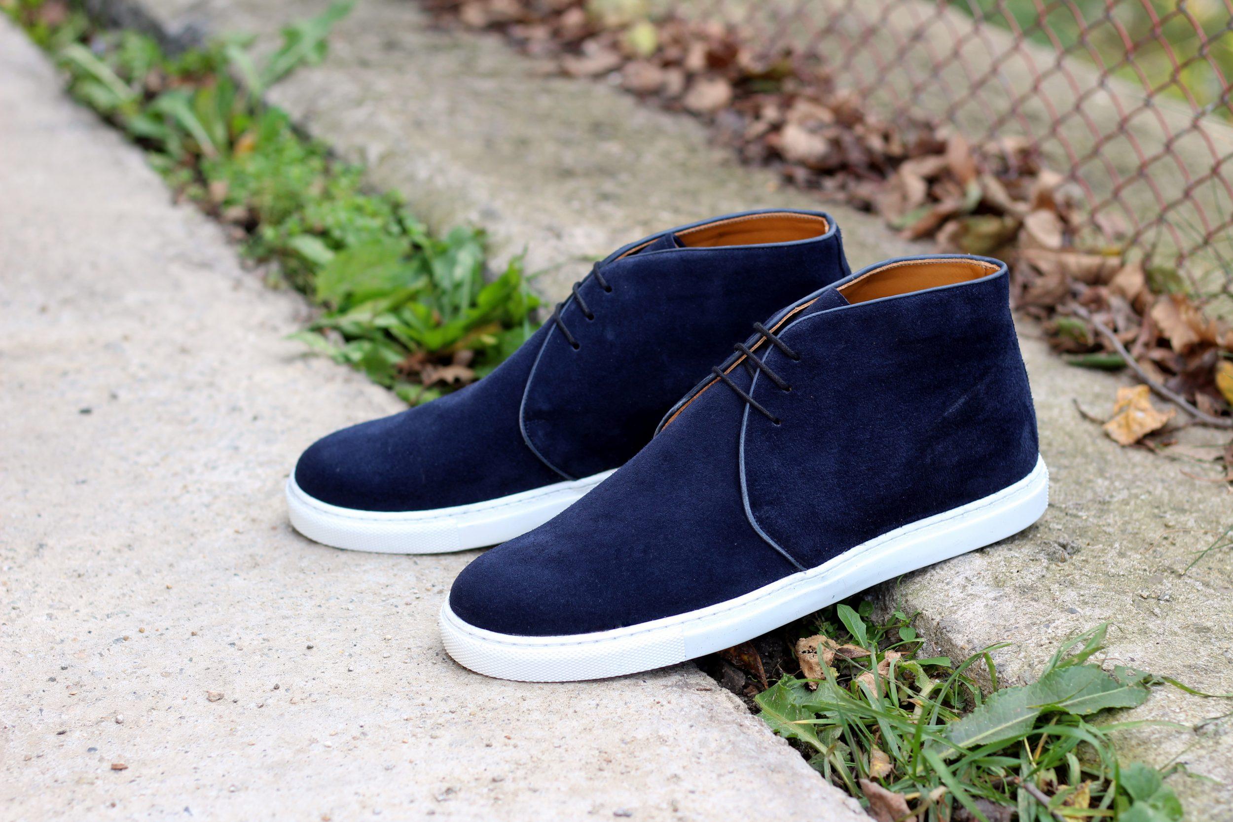 Vlad Alexandru navy Chukka Sneakers