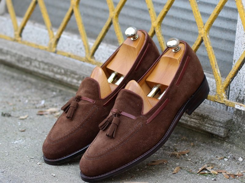Vlad Alexandru brown suede Tassel Loafer