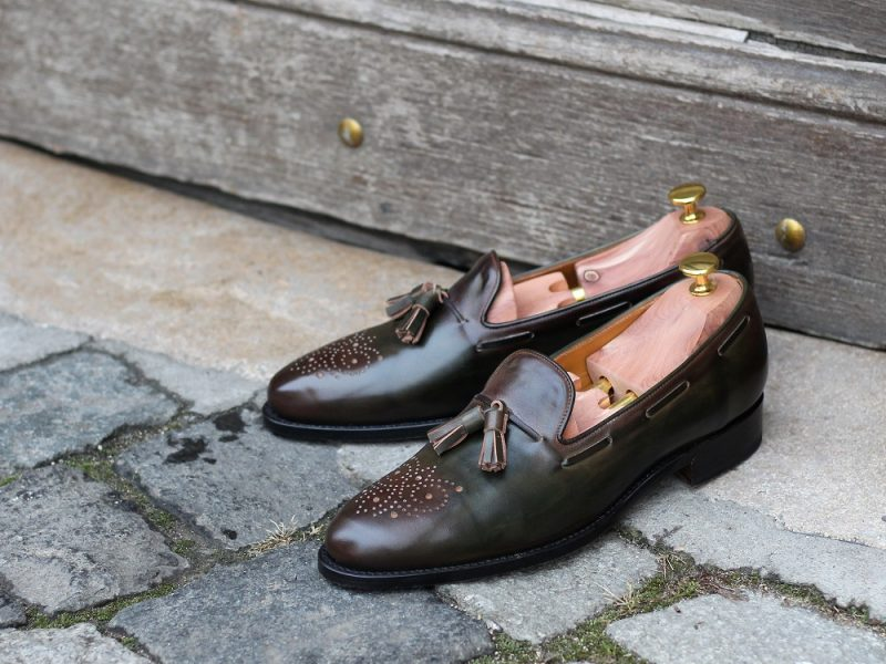 Vlad Alexandru Green Patina Tassel Loafer