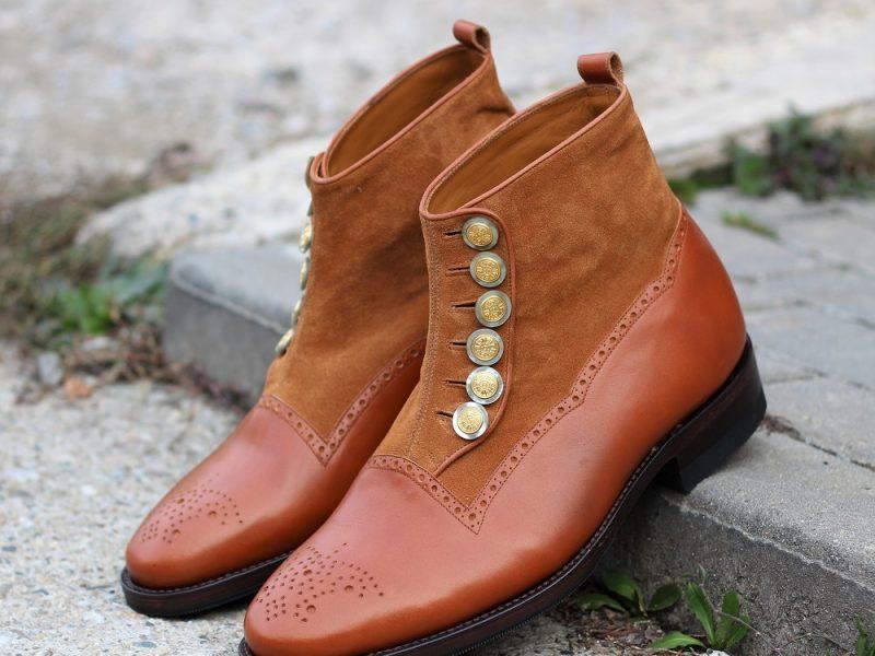 Vlad Alexandru Cognac Button Boots