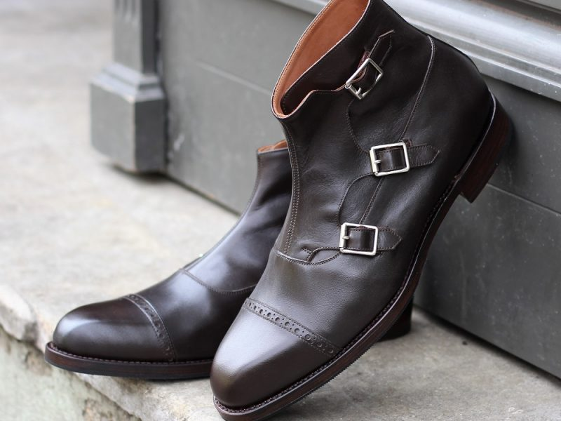Vlad Alexandru Dark Brown Triple Monk Strap Boots