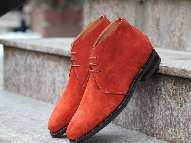 Vlad Alexandru red suede Chukka Boots
