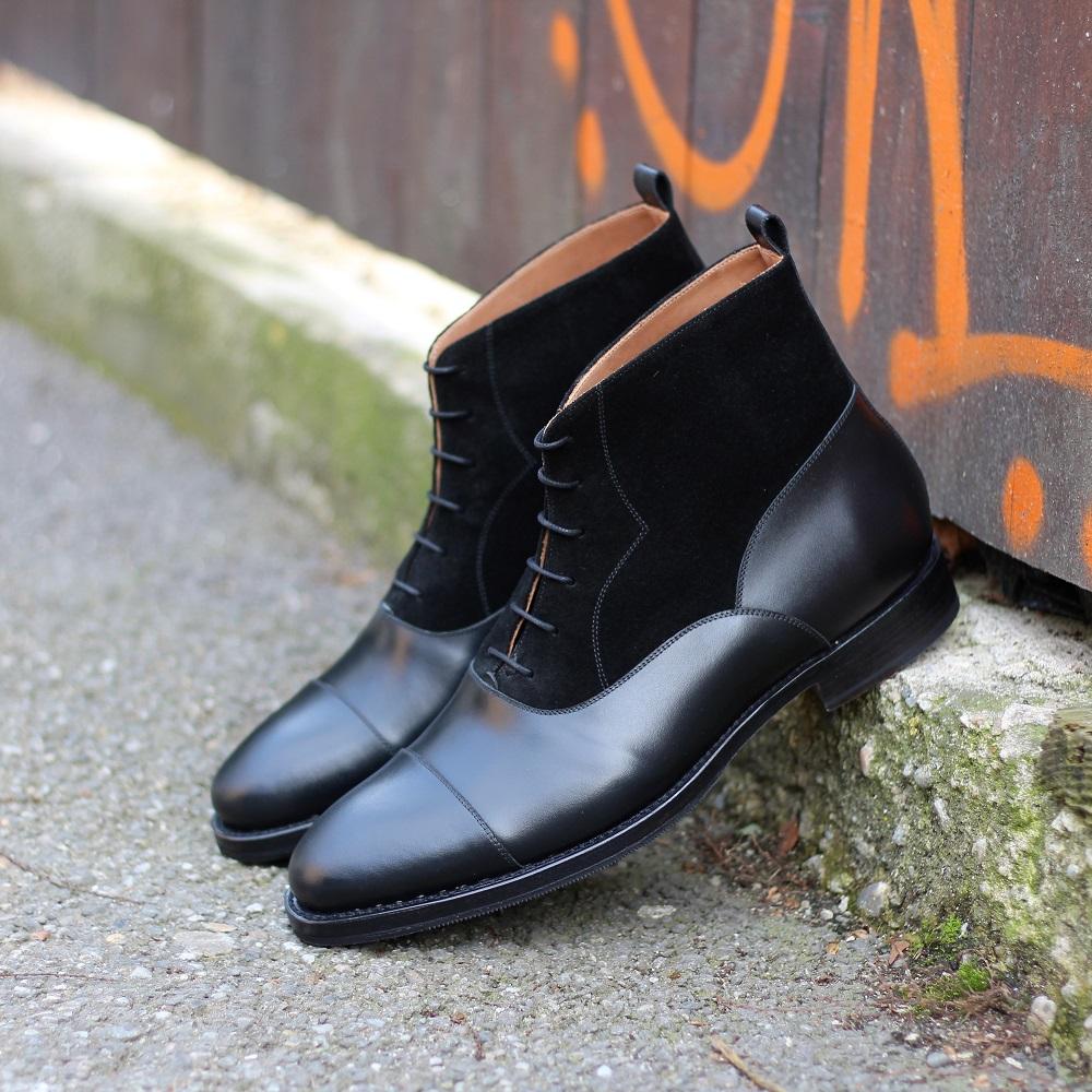 Vlad Alexandru Black suede Oxford Boots