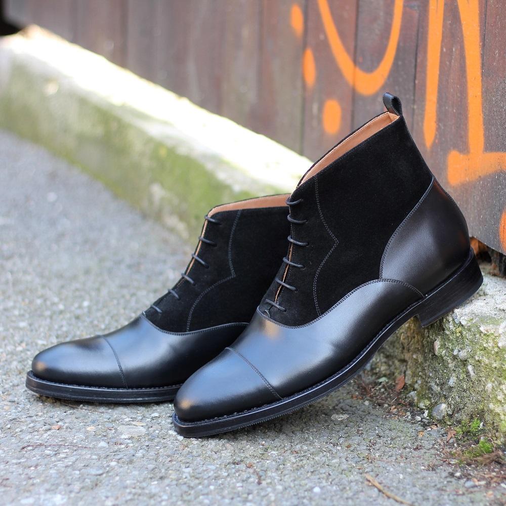 Vlad Alexandru Black calf suede Oxford Boots